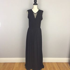 H&M Long Maxi Dress Black Size Medium.